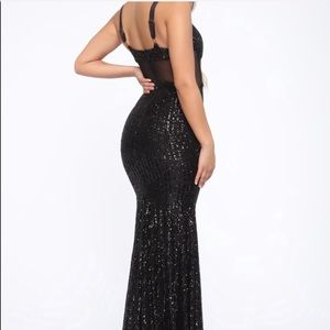 Fashion Nova Dresses - Sequin Gown - Black